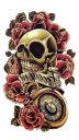 (ファンタジー) TheFantasy タトゥーシール タトゥーシール スカル 薔薇 時計 yms009 【中型・A5】