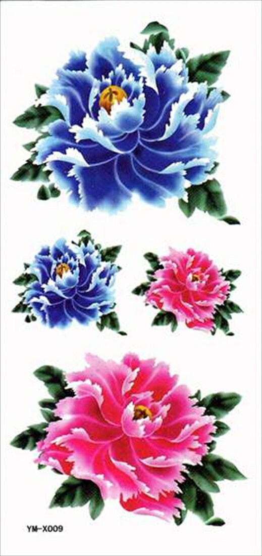 タトゥーシール タトゥーシール 花 薔薇/ymx009