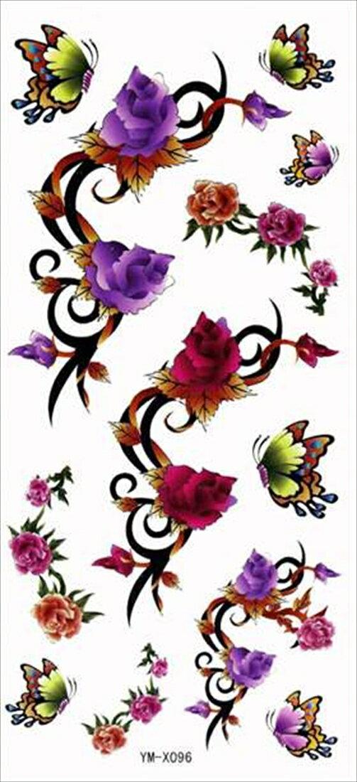 (ファンタジー) TheFantasy タトゥーシール タトゥーシール 蝶と花 ymx096 【レギュラー】
