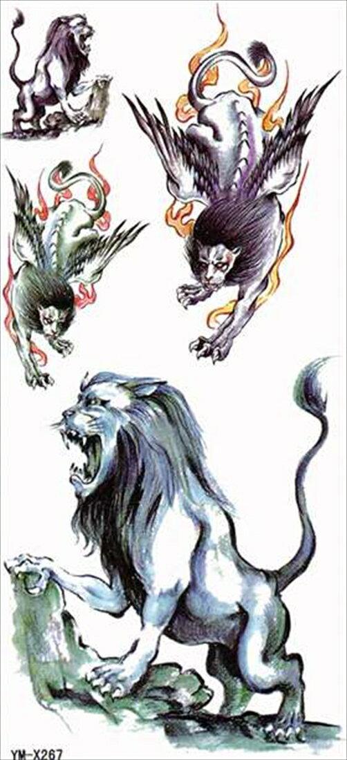 (ファンタジー) TheFantasy タトゥーシール タトゥーシール ライオン 獅子 ymx267 【レギュラー】