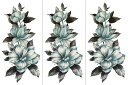 (ファンタジー) TheFantasy 【3枚セット】 タトゥーシール 花 ymx300 【レギュラー】