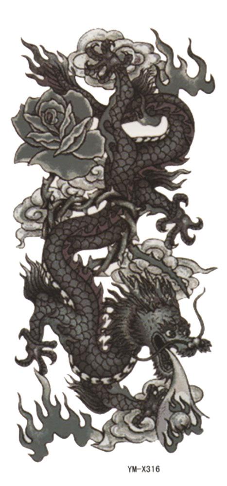 (ファンタジー) TheFantasy タトゥーシール タトゥーシール ドラゴン 竜 龍 ymx316 【レギュラー】