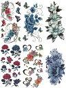 (ファンタジー) TheFantasy タトゥーシール 薔薇 花 バラ 蝶 【6種6枚セット】 ymx6006