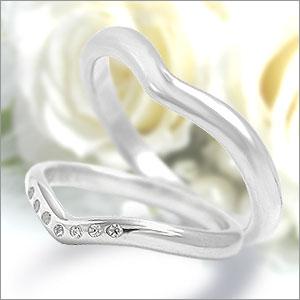 マリッジリング  Eternita(エテルニタ) Elegante(エレガンテ) 《 MR-5M 》&《 MR-5LD 》2本セット PT950(純度95%プラチナ) / ダイヤモンド 約0.035ct すべて自社生産なのでアフターも安心!Eternita(エテルニタ) Elegante(エレガンテ) MR-5M