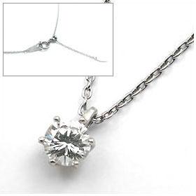 鑑定書付きネックレス  ダイヤモンド 0.4ct  E VS1 EXCELLENT H&C 3EX  丸アズキ プラチナ Pt900/Pt850 ■ダイヤモンドネックレス納期お急ぎの方はご希望日をご相談ください!