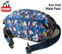 ショッピングウエストポーチ CHUMS/チャムス 【エコオーバルウエストパック】 Eco Oval Waist Pack CH60-2475 ファニーパック/ヒップバッグ/ウエストバッグ/総柄ツリー