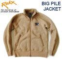 セール!ROKX /ロックス 【ビッグパイルジャケット/BIG PILE JACKET】 クラシックボアフリースジャケット RXMF6314 ベージュ