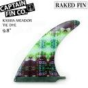 "CAPTAIN FIN キャプテンフィン (RAKED FIN) KASSIA MEADOR TIE DYE 9.8"" カシア・ミーダー ロングボード用フィン ..."