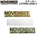 NOVEMBER【ノベンバー】ステッカー CUTTING L...