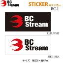 スノーボード ステッカー BC-Stream BC-1 ビーシーストリーム カッティングステッカー 【あす楽対応】