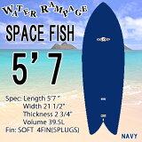 [送料無料] WATER RAMPAGE ウォーターランページ サーフボード SPACE FISH 5'7 NAVY ショートボード ソフトボード フィッシュ スポンジボード