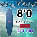 【送料無料】WATER RAMPAGE ウォーターランページ サーフボード CASH-YEW 8'0 ファンボード ソフトボード スポンジボード ALMOND