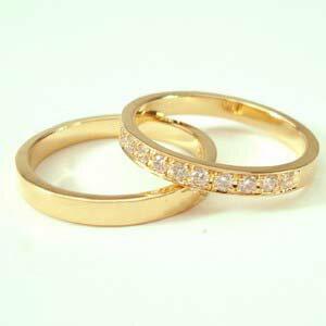 お得な2本セット価格送料無料ゴールドダイヤペアリング【刻印・文字彫り無料】結婚指輪・マリッジリング・記念日・ギフト【 05P13Jul11 熟練のクラフトマンが心を込めておつくりします。セミオーダージュエリーが2本セットでこの価格!