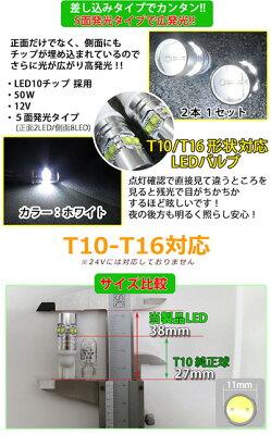 T16�Хå�����LEDT10�Хå��饤�ȥХå��峰���ѡ��ĥݥ�������ɥ쥹���å���ۥ磻��50W12V/24V����̵��������