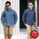 デニムシャツ メンズ 大きいサイズ 長袖 綿100% シャンブレー シャツ 2L 3L 4L 5L ...