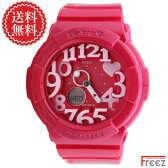 CASIO Baby-G 時計 Baby-G ピンク レディース 腕時計 ベビーG Neon Dial Series ネオンダイヤル BGA-130-4B【あす楽】【送料無料】