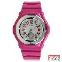 キュートなデザインで人気の Baby-G ベイビージー レディース 腕時計 ピンク デジアナ