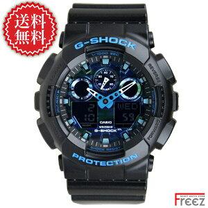 カシオ G-SHOCK 時計 G-ショック ジーショック カモフラージュ ブルー 青 GA-100CB-1A【あす楽】【送料無料】