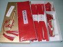 打掛 白無垢 婚礼用 はこせこセット 赤色 小花柄 (京都の職人さんの手作り作品)(結婚式 和装 花嫁 五品 房付き箱迫 懐剣 扇子)