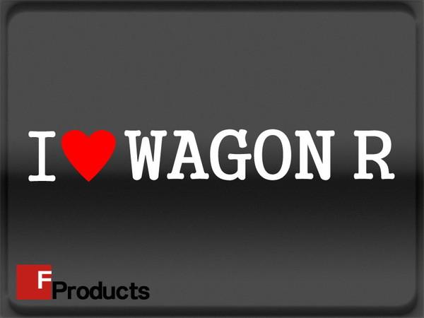 【Fproducts】アイラブステッカー/WAGON R/アイラブ ワゴンR【ポイント消化】