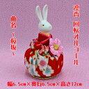 オルゴール プレゼント うさぎ回転オルゴールドール凛香 【ひとり(桜 赤)日本製】U223プレゼント・兎・ウサギ・卯 人形・置物