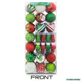 華麗 ★ 聖誕 50 集的裝飾品聖誕球和球形紅綠聖誕裝飾聖誕樹裝飾品裝飾品紅色白色銀色光綠色聖誕樹球 Costco costco 店產品 04