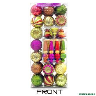 華麗 ★ 聖誕 50 聖誕裝飾聖誕樹裝飾品裝飾品紅綠金紫 x ' mas 樹球 Costco costco 店產品 03 集的裝飾品聖誕球和球紅、 黃金、 紫色、 綠色等。