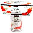 カークランド organic dice tomatoes ダイス トマト 411g × 8缶 食品 食材 缶詰 トマト缶 オーガニック ホールトマト ダイストマト コストコ costco 商品 通販
