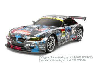 ★ cheap quantity sold radio-controlled car ★ 1 / 10 RC hatsune miku Studie GLAD BMW Z4 (TT-01E) ITEM 58442