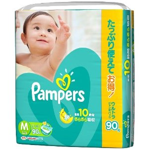 Pampers dry care tape ultra Jumbo M 90 x 3 (270 photos)