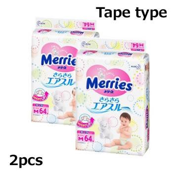 KAO花王Merries纸尿裤M64片*2