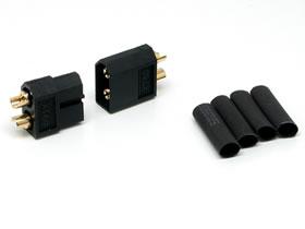 SQUARE RC model parts SGC-44 XT60 connectors (black) male and female 1 pair generic conversion connector for light electric parts