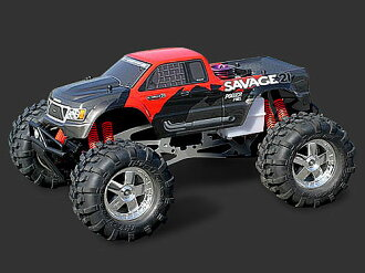 7753 HPI Nitro GT-1 truck paint body (red)