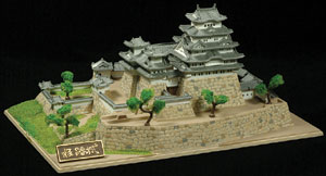 Dren Sha(Japan) Himeji Castle against the blue sky floating white treasure