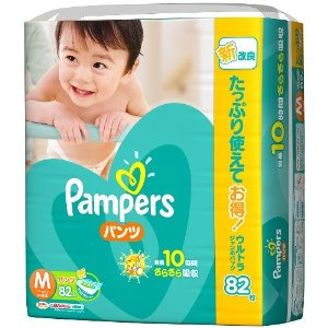 Pampers dry ケアパンツ ultra Jumbo M 82-x best rates from daily use 3 (246 photos)