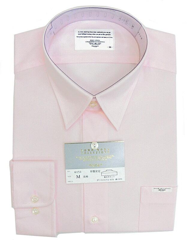男子スクールシャツ ピンク・形態安定・裾水平カ...の紹介画像2