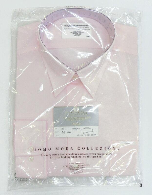 男子スクールシャツ ピンク・形態安定・裾水平カ...の紹介画像3