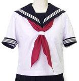 半袖白セーラー服(紺衿・三本線)A体【H-SL28A】