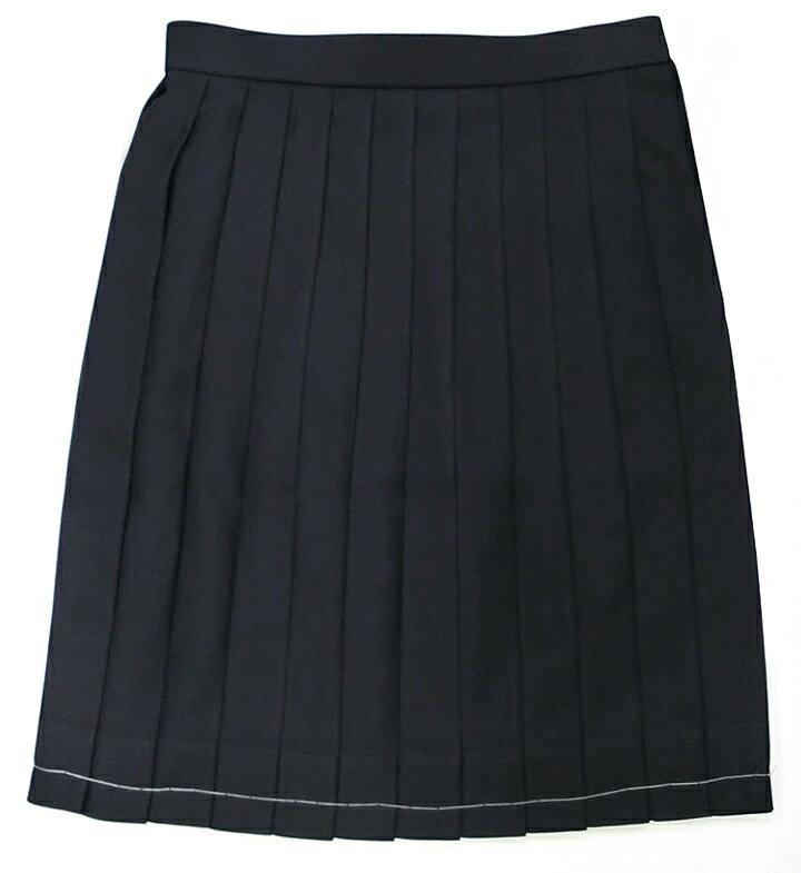 制服 スカート 紺24本ヒダ ポリ100%ウォ...の紹介画像2