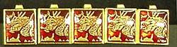 詰襟学生服チェンジ裏ボタン ドラゴン(赤)
