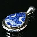 ショッピング和柄 陶器のペンダント ネックレス | アクセサリー メンズ レディース シルバーアクセ シルバー925 トップ 和柄