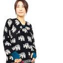 ショッピングエスニック エスニック ブラウス ゾウ柄 レディース 【ゾウさん エスニック ファッション アジアン ファッション プルオーバー シャツ Vネック】
