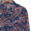 シャツ メンズ 長袖 ペイズリー 【メンズシャツ カジュアルシャツ 長袖シャツ 柄シャツ 派手 オラオラ系 ヤンキー ちょいワル バンド ミュージシャン ステージ衣装 ロック ストーンズ スライダーズ 】