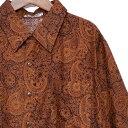 ショッピングsixtones シャツシャツ メンズ 半袖 ペイズリー メンズ レディース ブラウン メンズシャツ レディースシャツ 半袖シャツ 派手 ちょいワル バンド ステージ衣装 バンド ステージ衣装 ストーンズ スライダーズ