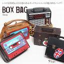 ショッピングラジオ ボックスデザイン 2way バッグ | ショルダーバッグ メンズ レディース レトロ ミュージック ロック ピースマーク