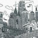 街並みイラスト アートボード アートパネル STREET M...