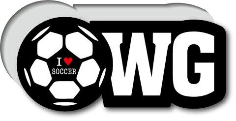 GSJ-003/サッカーポジションステッカー/ウイング/WG/サッカープレイヤー/スタメン