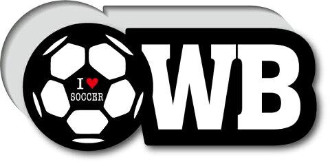 GSJ-004/サッカーポジションステッカー/ウイングバック/WB/サッカープレイヤー/スタメン