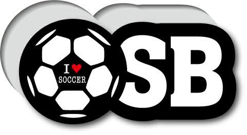GSJ-006/サッカーポジションステッカー/サイドバック/SB/サッカープレイヤー/スタメン
