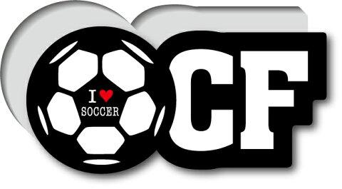 GSJ-008/サッカーポジションステッカー/センターフォワード/CF/サッカープレイヤー/スタメン